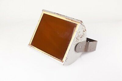 10 x 8 inch Metal Safelight with B&W Orange / Brown Filter Screen - Well Used.