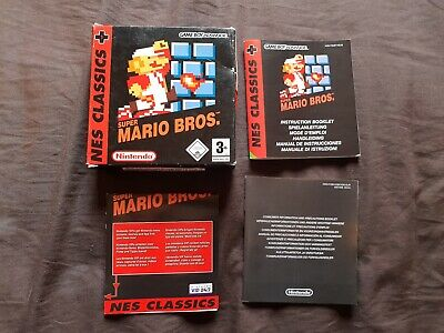 SUPER MARIO BROS NES CLASSICS Nintendo Gameboy Advance Game BOX & MANUAL ONLY