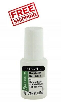 IBD 5 Second Gel Professional Brush-On Nail Glue 6g