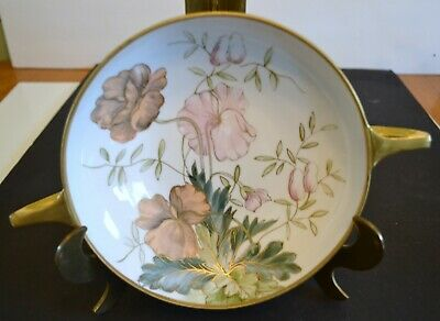 Handpainted Nippon Bowl - Decorated With Large Flowers And Gold/gilt