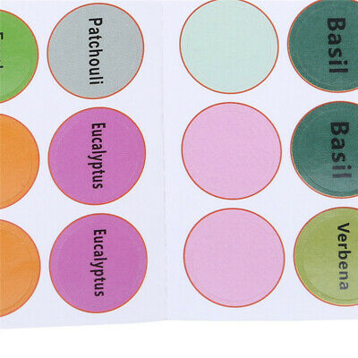 Rounded Adhesive Tag Oil Bottle Labels Stickers Makeup Bottle Decals Labels Jian