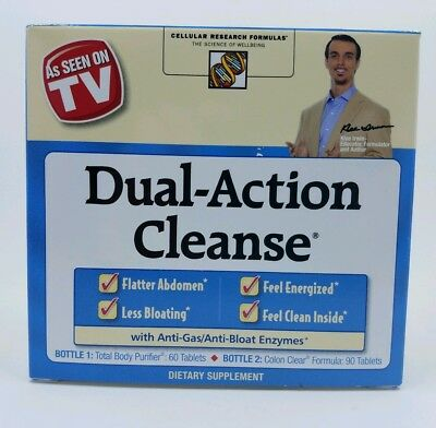 Applied Nutrition Dual Action Cleanse, NIB EXP 12/19 Detoxify and Cleanse