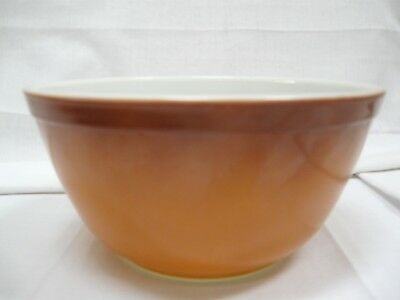 Vintage Pyrex Old Orchard Gold Brown Nesting Mixing Bowl 1 1/2 Quart #402