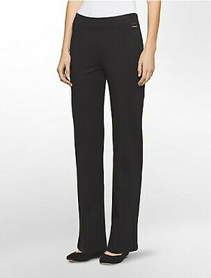 bc402a7a CALVIN KLEIN NEW WT BLACK Straight-Leg Madison Pants Women's size S ...