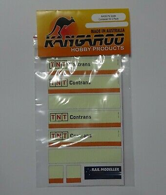 N Scale Container TNT Contrans Kit for 2 containers Kangaroo Brand