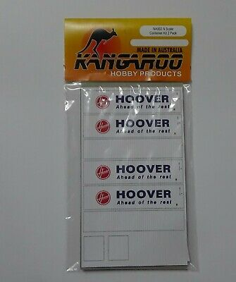N Scale Hoover Container Kit for 2 containers Kangaroo Brand