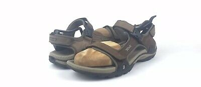 "5c6d82381 Teva ""Toachi 2"" Mens Brown Leather Hiking Sport Water Adjustable Sandals  Size"