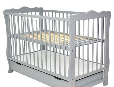 """Baby Cot With Drawer/Junior Bed """"Nina"""" + Selection Of Mattress/Drawer"""