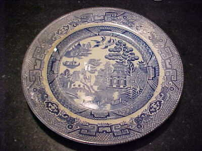 """Blue Willow ALLERTONS Made in England DESSERT PLATE or  bread see mark """"A"""" 6 3/8"""
