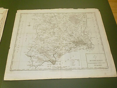 100% Original Large Middlesex London Map By Harrison C1787 Low Postage Uk