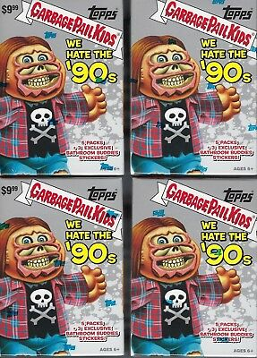 (4) 2019 Topps Garbage Pail Kids #1 We Hate The '90's Stickers BLASTER BOX LOT