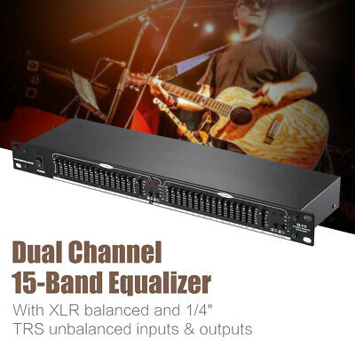 Dual Channel 31-Band Guitar Equalizer Acoustic Guitar Preamp Piezo Pickup A4N8