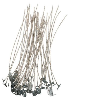 Homankit 100 Pieces x 20cm Pre Soy Waxed Wicks| Candle wicks with 100% Natural /
