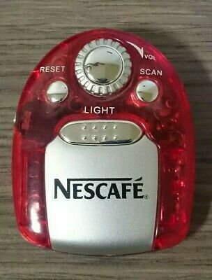 Nescafe Red FM Portable Auto Scan Radio with Light  & Headphones ~ Working