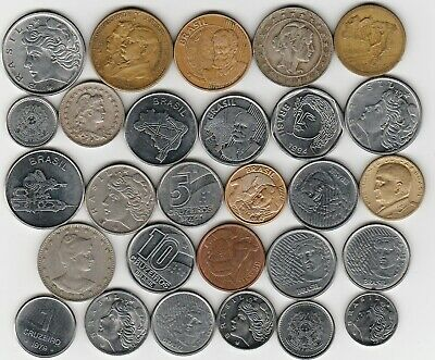 28 different world coins from BRAZIL some scarce