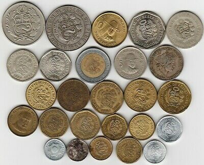 25 different world coins from PERU some scarce