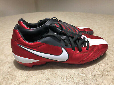 6c27828c9b7 NIKE MENS RARE T90 Shoot IV FG Soccer Cleats 472547-610 Red US Size ...
