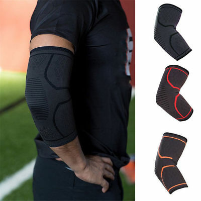 Compression Elbow Brace Support Arthritis Sleeve Bandage Gym Sport Arm Wrap Pads