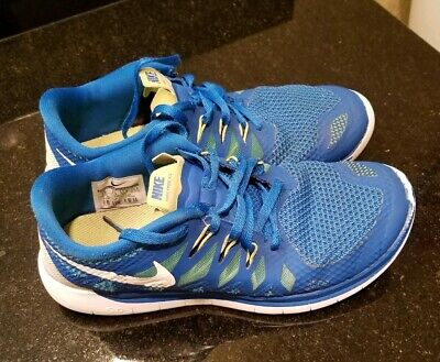 81816be3dcdb Nike Free 5.0 Military Blue White Polarized Running shoes 644428-400 boys 5Y