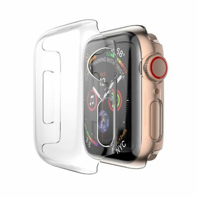 For Apple Watch Series 4 40mm Clear Tempered Glass Aluminum Crystal Case Cover