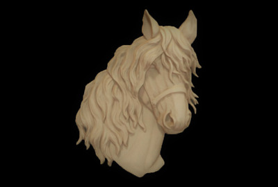 Horse head 3D Relief Model in STL format CNC Router Carving Engraving Artcam