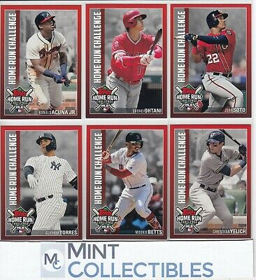 2019 Topps Series 1 Home Run Challenge Inserts - You Pick & Complete Your Set