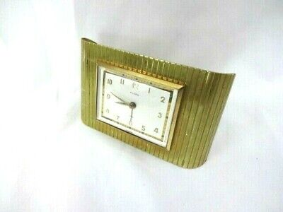 Vintage Florn Travel Alarm Scroll Clock Made In Germany