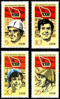 EBS East Germany DDR 1971 Party Congress of the SED (I) Michel 1675-1678 MNH**