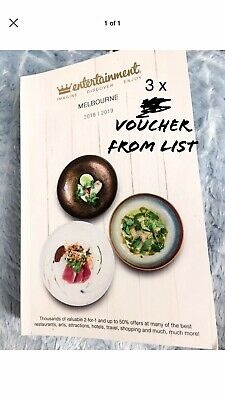 Vouchers Only - Melbourne Entertainment Book 2018/2019 - 3 for $1