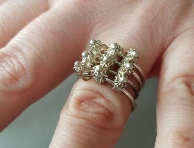 VINTAGE AUTHENTIC Ottoman STYLE hand knitted filigree silver RING