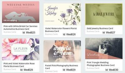 200 Wedding Business Cards custom One sided printing with free design