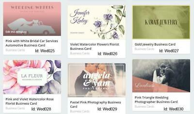 500 Wedding Business Cards custom One sided printing with free design
