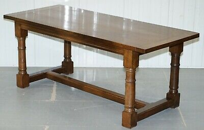 Vintage English Oak Refectory Dining Table 183Cm X 77.5Cm X73.5Cm Seats Upto 8