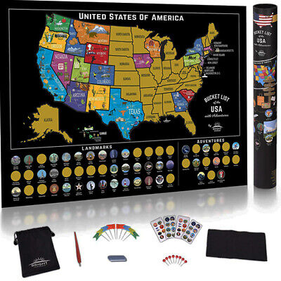 SCRATCH OFF MAP United States - USA Scratch Travel Map -Travel ...