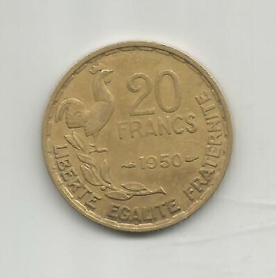 20 Francs Georges Guiraud 1950 3 Plumes