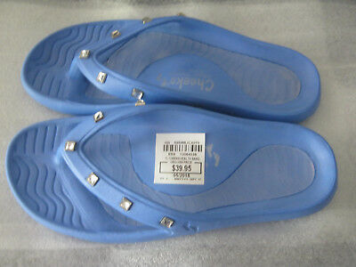 9b8892004 Tony Little Cheeks® Jeweled Health Sandal with Gel Footbed Blue 7 New no Tag