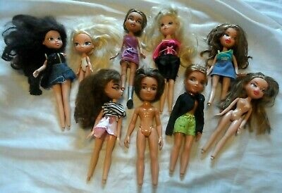 Job Lot of 9 BRATZ DOLLS & Similar including boys No shoes Messy Hair BUNDLE