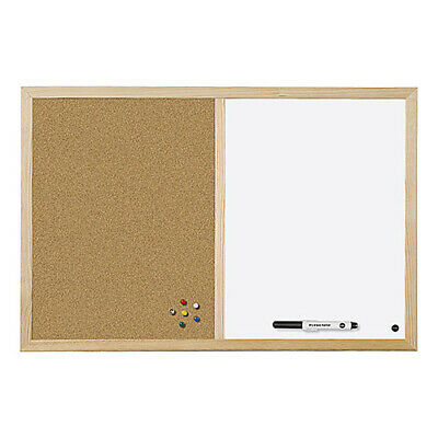Office School Home Combo Cork Non Magnetic Whiteboard Drawing Dry Wipe Board