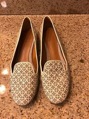 212408ad5 TORY BURCH YELLOW And Light Brown Colorblock Suede Flats Size 7M ...