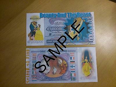Beauty & The Beast Novelty 1 Million Euro Bank Note Birthdays Christmas Banknote