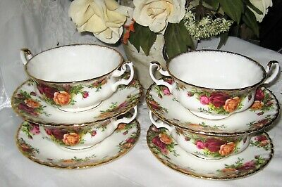 Royal Albert - Old Country Roses - Cream Soup Cups (Set of 4)