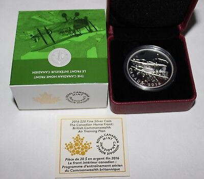 2016 Canada Fine Silver $20 Home Front Series Proof Coin