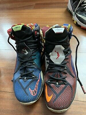c7accf15664 NIKE LEBRON XII 12 SE WHAT THE LEBRON MULTI COLOR 802193-909 Size 11 ...