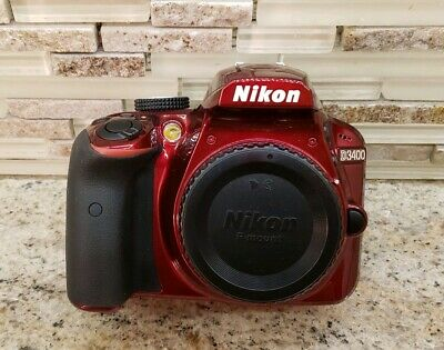Nikon D3400 DSLR Camera Body with bag and accessories.(Only 3,778 shutter count)