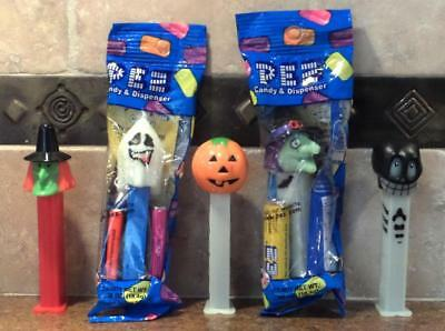 Pez ~ Halloween Set ~ Ghost ~ Jack-O-Lantern ~ Skull ~ Witches