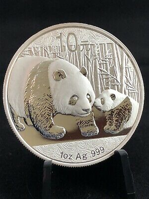 2011 1oz Chinese Silver Panda Investment Grade .999 Bullion Coin - FREE SHIPPING