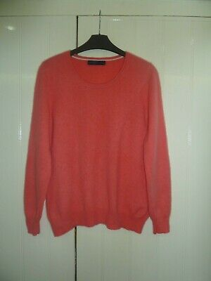 Ladies Strawberry 100% Cashmere Jumper by M & S in Size 14