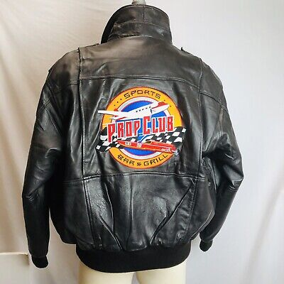 374676a99 BURK S BAY MEN Leather Racing Jacket Checkered Flag Pattern Black ...