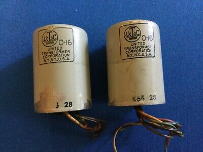 Two UTC O-16 Audio Transformers - Microphone or Line to GridUsed