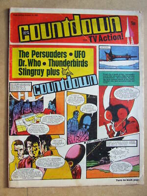 Countdown Comic No 45. 1972. Dr Who story in colour / Stingray / Persuaders etc.